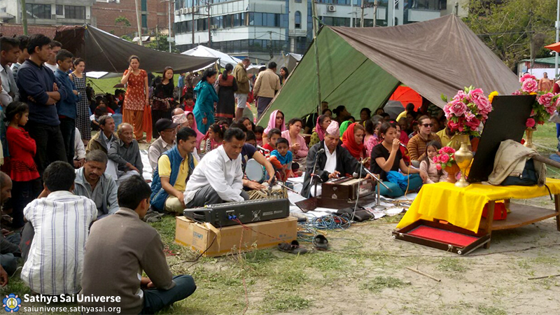 Bhajans in Sai Centre compound