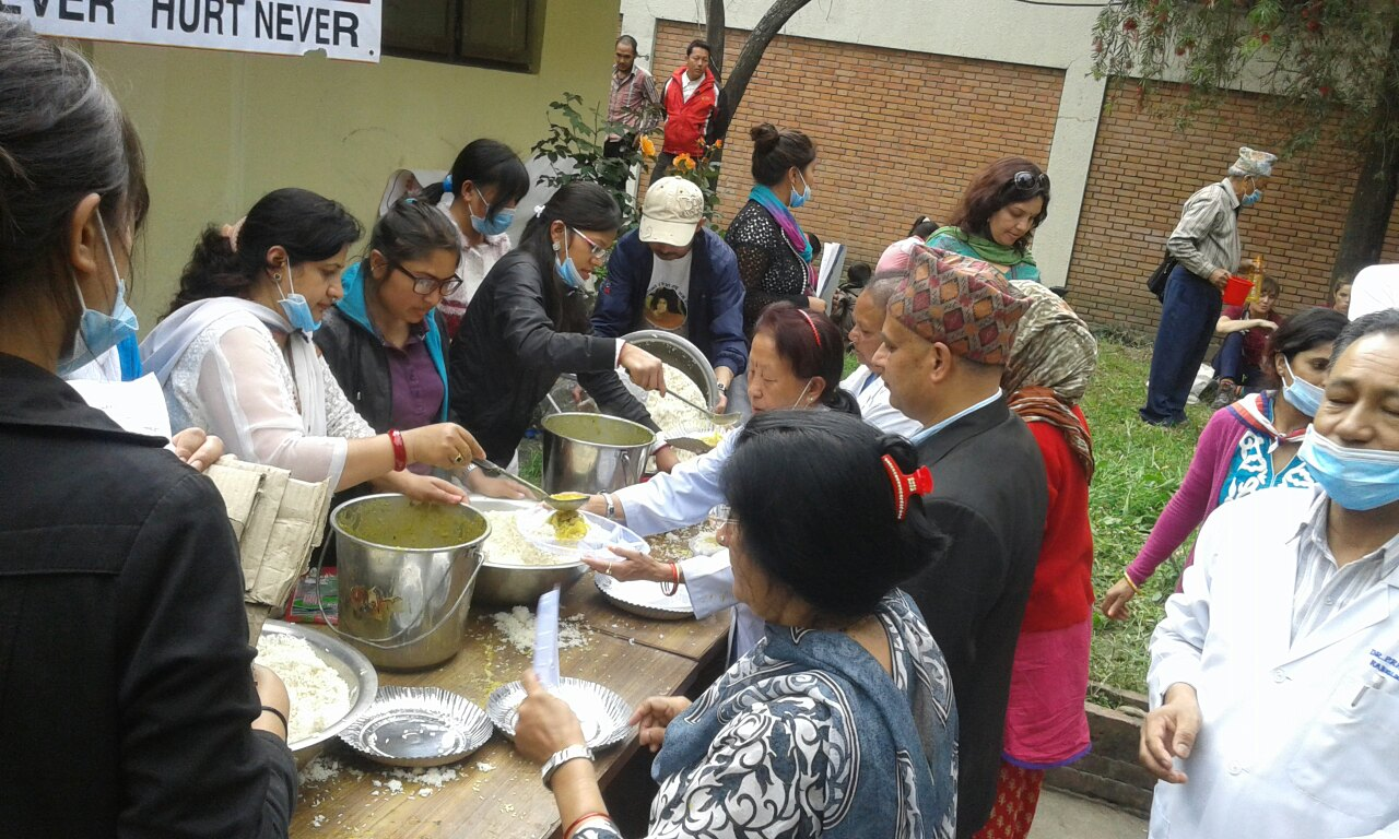 Nepal Earthquake - Feeding