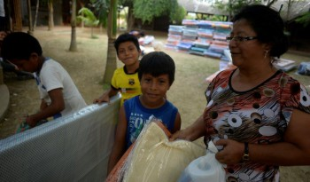 Families Receiving Food and Mattress