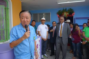 Speech by dulag mayor Manuel Boy- Siaque during Dulag clinic inauguration
